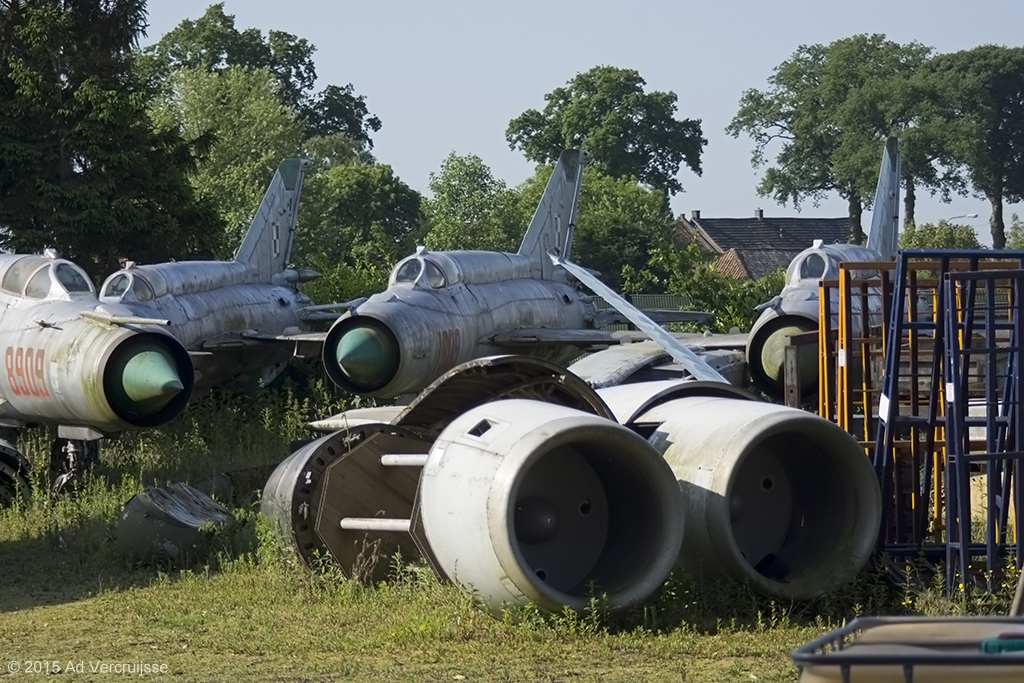 Poland - Air Force 04-06-2015. Kessel, Netherlands - storage PS Aero (with  MiG-21 8909, 1909 and 2007)