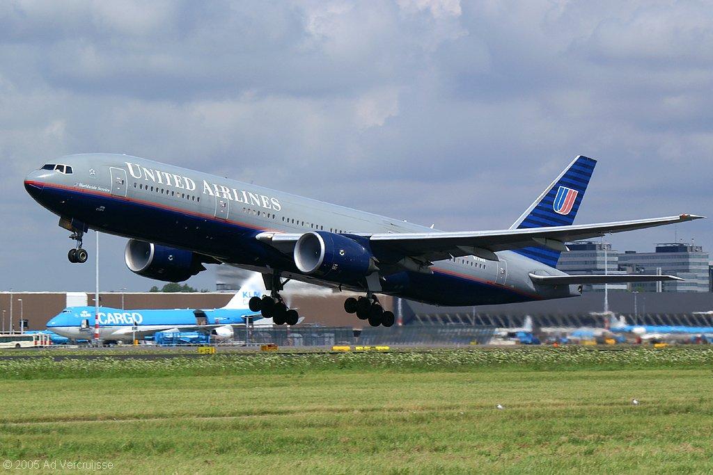 vluchten united airlines schiphol